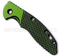 "Rick Hinderer Knives XM-18 ""Bolstered"" G-10 Handle Scale - Fits 3.5"" Models Only - Toxic Green and Black"