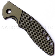 "Rick Hinderer Knives XM-18 ""Bolstered"" G-10 Handle Scale - Fits 3.5"" Models Only - Olive Drab (OD) and Black"