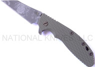 "Rick Hinderer Knives Battle Field Pickup XM-24 Wharncliffe Folding Knife, BPU 4"" Plain Edge M390 Blade, BPU Lock Side, Olive Drab (OD) G-10 Handle"