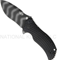 "Zero Tolerance 0303 Assisted Opening Knife, Tiger Striped 3.75"" Plain Edge Blade"