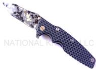 "Rick Hinderer Knives Generation 2 Eklipse Harpoon Tanto Folding Knife, Digital Camo/Working Finish 3 5/8"" Plain Edge CPM-20CV Blade, Digital Camo/Working Finish Lock Side, Gray - Black G-10 Handle"