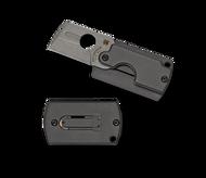 "Spyderco Dog Tag Folder Gen4 C188ALP Folding Knife, 1.187"" Plain Edge Blade, Black Aluminum Handle"