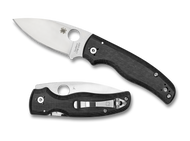 "Spyderco Shaman C229GP Folding Knife, Satin 3.625"" Plain Edge Blade, Matte Black G-10 Handle"