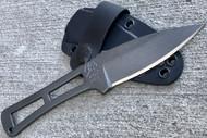 "RMJ Tactical Utsidihi Fixed Blade Knife, 3.5"" Plain Edge Blade, Solid Nitro-V Steel Construction"