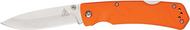 "Lone Wolf Knives Landslide 40022-100, 3.5"" Plain Edge Blade, Orange Handle"