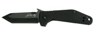 "Kershaw Emerson CQC-3K 6014TBLK Folding Knife, Black 2.75"" Plain Edge Blade, Black G-10 Handle"