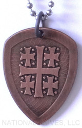 RMJ Tactical Copper Jerusalem Cross Pendant