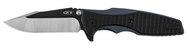 "Zero Tolerance 0393 Folding Knife, Two-Tone  3.625"" Plain Edge Blade, Black G-10 and Blue Titanium Handle"