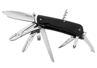 "Ruike Knives Trekker LD51-B Multitool, 3.4"" Blade, 23 Functions, Black G-10 Handle"