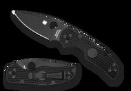 "Spyderco Native 5 Knife C41PBBK5 3"" Black PlainEdge S35VN Blade Black FRN Handle"