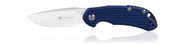 "Steel Will Knives Cutjack Mini C22M-1BL Folding Knife, 3.062"" Plain Edge D2 Blade, Blue FRN Handle"