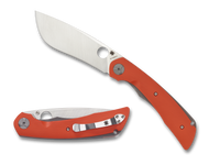 Spyderco Subvert C239GPOR Folding Knife, Plain Edge Blade, Orange G-10 Handle