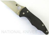 "Spyderco Yojimbo 2 C85CF20CVP2 Folding Knife, 3.25"" Plain Edge 20CV Blade, Smooth Black Carbon Fiber Handle"