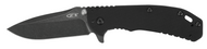 "Zero Tolerance ZT 0566BW Assisted Opening Knife, Blackwash 3.25"" Plain Edge Blade, Black G-10 and Blackwash Stainless Steel Handle"