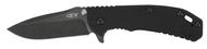 "Zero Tolerance ZT 0566BW Assisted Opening Knife, Blackwash 3.25"" Plain Edge Blade, Black G-10 and Blackwash Stainless Steel Handle"