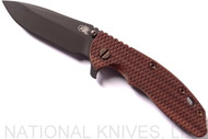 "Rick Hinderer Knives Vintage Series XM-18 Spearpoint Folding Knife, Black 3.5"" Plain Edge O1 Blade, Battle Green Lock Side, Textured Walnut Handle"