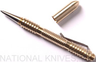 Rick Hinderer Knives Extreme Duty Spiral Ink Pen, Brass