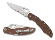 "Byrd Cara Cara 2 BY03PSBN2 Folding Knife, 3.75"" Partially Serrated Blade, Brown FRN Handle"