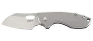 "CRKT Pilar 5311 Folding Knife, Satin 2.3"" Plain Edge Blade, Stainless Steel Handle"