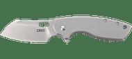 CRKT Pilar Large 5315 Folding Knife, Satin Plain Edge Blade, Stainless Steel Handle