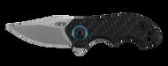 "Zero Tolerance 0022 Folding Knife, 1.875"" Plain Edge Blade, Carbon Fiber and Titanium Handle"