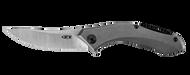 "Zero Tolerance 0460TI Flipper Folding Knife, 3.25"" Plain Edge Blade, Titanium Handle"