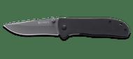 CRKT Drifter 6450K Folding Knife, Gray 8Cr14MoV Plain Edge Blade, Black G-10