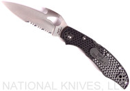 Byrd Cara Cara 2 Emerson BY03PSBK2W Folding Knife, Partially Serrated Blade, Black FRN Handle, Emerson Opener