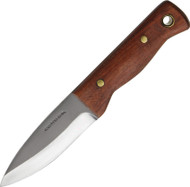 Condor Tool & Knife Mini Bushlore Knife CTK232-3HC, 1075 Plain Edge Blade, Walnut Handle, Sheath