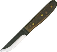 Condor Tool & Knife Bushcraft Basic Knife CTK236-4HC, 1075 Plain Edge Blade, Walnut Handle, Sheath