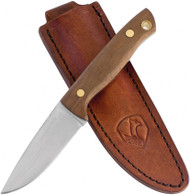 Condor Tool & Knife Mayflower Knife CTK150-3-4C, 440C Plain Edge Blade, Walnut Handle, Sheath