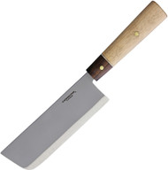 Condor Tool & Knife Kondoru Nakkiri Kitchen Knife CTK5001-7.0, 1095 High Carbon Plain Edge Blade, Wood Handle, Sheath