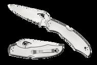 "Byrd Cara Cara 2 Folding Knife BY03PS2 3.75"" Combo Edge Blade Steel Handle"