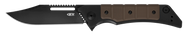 Zero Tolerance 0223 Flipper Folding Knife, Black CPM-20CV Plain Edge Blade, Brown G-10 and Black Titanium Handle