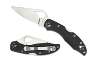 "Byrd Meadowlark 2 BY04GP2 Folding Knife, 2.875"" Plain Edge Blade, Black G-10 Handle"