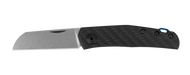 Zero Tolerance Anso 0230 Slip Joint Folding Knife, CPM-20CV Plain Edge Blade, Black Carbon Fiber Handle