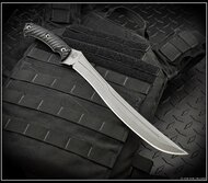 "RMJ Tactical Drake Fixed Blade Knife, 11.25"" Plain Edge CPM-3V Blade, Black G-10, Kydex Sheath"