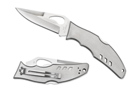 "Byrd Flight BY05P Folding Knife, 3.437"" Plain Edge Blade, Stainless Steel Handle"