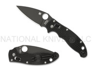 "Spyderco Manix 2 C101PBBK2 Folding Knife, Black CTS-BD1 3.375"" Plain Edge Blade, Black FRCP Handle"