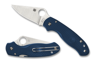 Spyderco Para 3 Lightweight C223PCBL Folding Knife, Satin CPM-SPY27 Plain Edge Blade, Cobalt Blue FRN Handle
