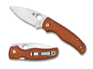 "STRICT LIMIT OF ONE (1) PER CUSTOMER, ADDRESS, PP ACCOUNT, ETC. - Spyderco Shaman Sprint Run Folding Knife C229GPBORE, Satin 3.625"" Plain Edge REX 45 Blade, Burnt Orange G-10 Handle"