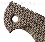"""Rick Hinderer Knives Folding Knife G-10 Handle Scale for XM-18 -3.5"""" -OD / Black"""