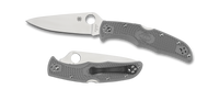 "Spyderco Endura 4 C10FPGY Folding Knife, 3.812"" Plain Edge Blade, Gray FRN Handle"