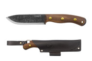 Condor Tool & Knife Bisonte Knife CTK3954-4.7HC, 1095 Plain Edge Blade, Walnut Handle, Sheath