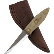 Condor Tool & Knife Canyon Carver Knife CTK2802-2.75HC, 1075 Plain Edge Blade, Natural Micarta Handle, Sheath