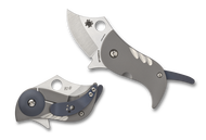 Spyderco Pochi C256TIP Folding Knife, S45VN Plain Edge Blade, Titanium Handle