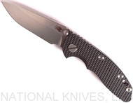 "Rick Hinderer Knives XM-18 Spearpoint Non-Flipper Folding Knife, Stonewashed 3.0"" Plain Edge 20CV Blade, Stonewashed Lockside, Black G-10 Handle - Tri-Way Pivot"