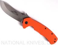 "Emerson Knives Rendezvous SF Folding Knife, Satin Plain Edge 154CM Blade, Orange G-10 Handle, Emerson ""Wave"" Opener"