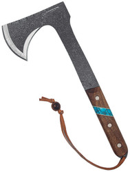 Condor Knife and Tool Blue River Tomahawk CTK2826-HC, 1075 Steel, Walnut Handle. Sheath