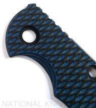"""Rick Hinderer Knives Folding Knife Handle Scale fits XM-18 - 3"""", BLUE - Black"""
